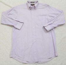 Loft & BrownStone Purple Dress Shirt Large 16 32/33 Solid Button Up Long Sleeve