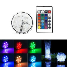 10 LED Submersible Waterproof Wedding Party Vase Base Floral RGB Light Remote UK