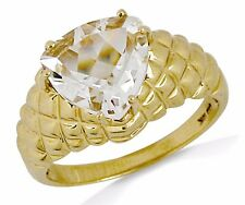 Women's 3.0 ct Trillion Cut in 10k SOLID Yellow Gold