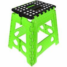 More details for large folding step stool plastic multi purpose foldable home kitchen kids tool