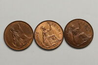 UK GB PENNY 1948 - 3 HIGH GRADE COINS LOT B10 SYE15