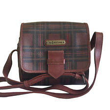POLO BY RALPH LAUREN BROWN CHECK CROSSBODY BAG