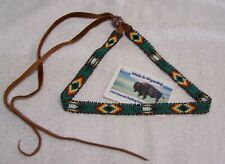 HAND MADE BEADED HAT BAND RENDEZVOUS BLACK POWDER MOUNTAIN MAN 1