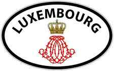 """Luxembourg Country Europe Oval Car Bumper Window Sticker Decal 6""""X4"""""""