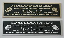 Muhammad Ali nameplate for signed boxing gloves trunks photo or case