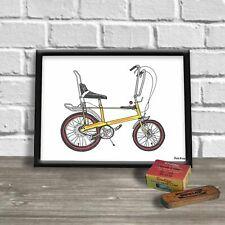 Chopper Bike A4 Print