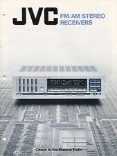 JVC Stereo Receivers Brochure R-X80, R-X60, R-X40, R-K20, R-K10 1982