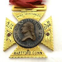 1899 Knigts Templer Masonic Freemason Enamel Medal/badge. Lot 157.