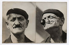 PHOTO PRESSE ANCIENNE Sosie Popeye Pipe Grimace Double portrait Béret