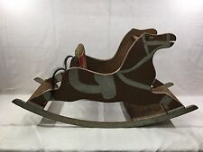 Antique Folk Art Wooden Rocking Horse