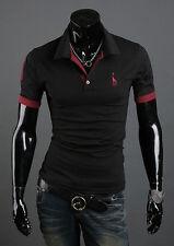 Fashion Mens Slim Fit Stylish Polo Shirt Short Sleeve Casual T-shirts Tee Tops