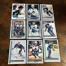 1992-93 O-Pee-Chee  TORONTO MAPLE LEAFS 18  Card team set