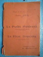 DE BRAGELONGNE : LA MARINE MARCHANDE, LA PECHE FRANCAISE, 1939 (tapuscrit + MS).