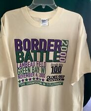 "Vintage!2000 Green Bay Packers vs Chicago Bears-""Border Battle"" T Shirt SZ XL"