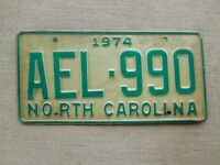 American number licence plate North Carolina vintage old car genuine USA