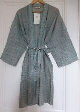BNWT Anokhi Midi Kimono Dressing Gown/Robe Block Print Holiday Free Size