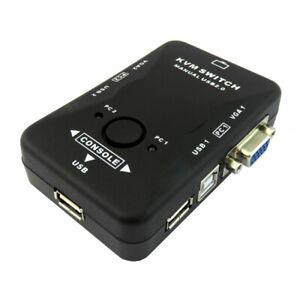 D42C KVM Switch Box 2 Port USB 2.0 f 2x Computer PC VGA Tastatur Maus Monitor TV