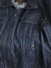 Men's Louis Vuitton Dark Blue Denim Jacket: Size 56