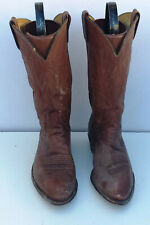 Mens' DAN POST BROWN LEATHER COWBOY WESTERN BOOTS SIZE  10 D