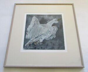 Priscilla Hoback Galisteo New Mexico Monotype Bird Print 1994  1938-2018