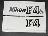 #2 Nikon F4 / F4s Genuine SLR Camera Instruction Book / Manual / User Guide