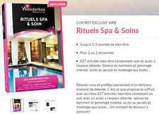 Coffret  E-Billet Wonderbox ''Rituels Spa & Soins'' 73€ au lieu 89€