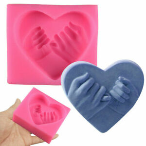 3D Love Heart Shaped Finger Silicone Soap Mold DIY Cake Candy Chocolate Mold New