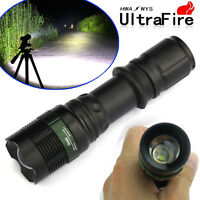 8000 Lumen Zoomable Cree XML T6 LED 18650 Flashlight Focus Torch Zoom Lamp Light