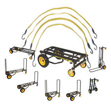 Rock N Roller R10RT 8 in 1 Equipment Cart with 4 Bungee Straps