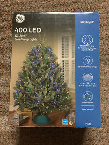 400 GE StayBright EZ Light Multi-Color LED Christmas Tree Wrap Lights - NEW