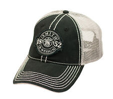 SMITH & WESSON *BLACK & SILVER MESH BACK* Since 1852  Logo HAT CAP *NEW* SW92