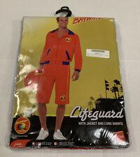 Baywatch Men's Lifeguard Large Adult Costume Hasselhoff Beach Halloween Cosplay