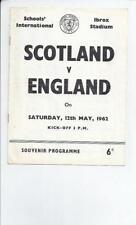 Scotland Home Team Under 18s/ 21s Football Programmes