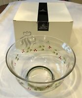 "NEW HTF Royal Doulton Crystal Gooseberry Large 9"" Footed Bowl"
