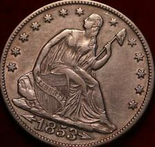 1853-O New Orleans Mint Silver Seated Half Dollar w/ Arrows and Rays Spike 1