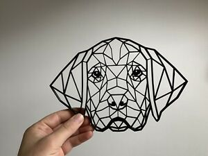 Geometric Beagle Dog Animal Pet Wall Art Decor Hanging Decoration