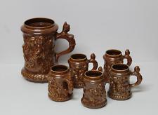 Jarras de porcelana LIMBACH  (Alemania)  Decoradas con Querubines en Relieve.