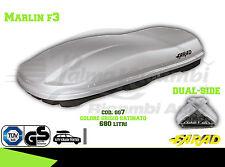 GG7 BAULE BOX PORTAPACCHI AUTO FARAD MARLIN F3 680 LT GRIGIO SATINATO