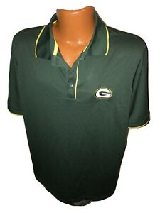 NWOT NFL Green Bay Packers Antigua Green Polo Golf Shirt Size Large