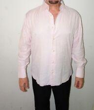 Brandolini Mens Long Sleeve Button Down Shirt Large Pink XL Vintage Rare