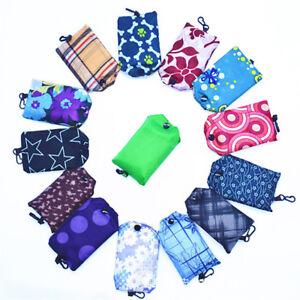 1X Foldable Reusable Roll Up Bag Eco Shoulder Shopping Handbag Fold Pouch UK Hot
