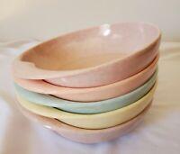 "Branchell Melmac by Kaye LaMoyne Bowls Set of 5 - 6.25"" Pastels"