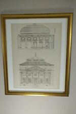 The Bowery Savings Bank, New York City, 1895, Framed Architecture Lithograph