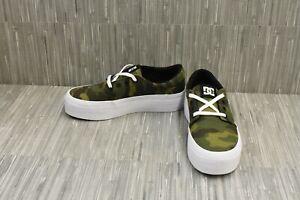 DC Trase Platform TX SE Skateboarding Comfort Shoes, Women's Size 5, Green NEW
