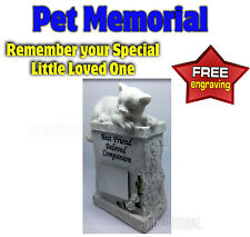PET MEMORIAL - HEADSTONE - TRIBUTE TO YOUR SPECIAL PET CAT FREE ENGRAVING