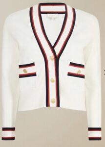 Ted Baker SKILARR Ribbed Retro  Preppy Look cardigan size 2 UK 10