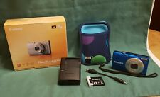 Canon PowerShot A4000 IS 16.0MP Digital Camera - Blue-With Box and Case!