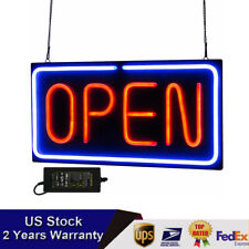 Top Neon Open Sign 24x12 inch Led Light 30W Horizontal Decorate Business Us Soon