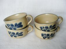 4 Pfaltzgraff Folk Art 14 oz Souper Mugs ~ #05-280