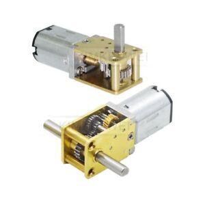 12V DC Micro N20 Single/Dual Shaft Worm Gear Motor Gearbox Large Torque Motor